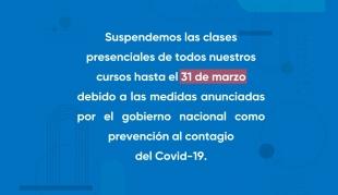 Suspendemos las clases presenciales de todos nuestros cursos